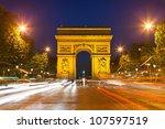 arc de triomphe   arch of... | Shutterstock . vector #107597519