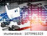 various type of financial and...   Shutterstock . vector #1075981325