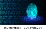 safety concept   cyber security ... | Shutterstock .eps vector #1075986239