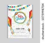 creative festa junina festival... | Shutterstock .eps vector #1075998704