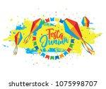 creative festa junina festival... | Shutterstock .eps vector #1075998707