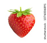 red berry strawberry isolated... | Shutterstock . vector #1076006891