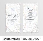 double sided wedding program... | Shutterstock .eps vector #1076012927