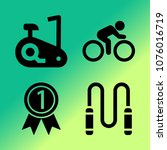 vector icon set about fitness... | Shutterstock .eps vector #1076016719