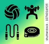 vector icon set about fitness... | Shutterstock .eps vector #1076016935