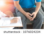 doctor physician consulting... | Shutterstock . vector #1076024234