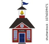Red Schoolhouse Illustration  ...