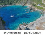 the view from mamma mia cliff... | Shutterstock . vector #1076042804