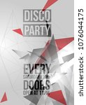geometric triangle disco party...   Shutterstock .eps vector #1076044175