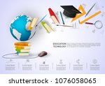 ideas concept for education... | Shutterstock .eps vector #1076058065