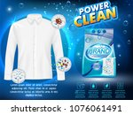 powder laundry detergent...   Shutterstock .eps vector #1076061491