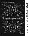cyberpunk futuristic poster....   Shutterstock .eps vector #1076063249