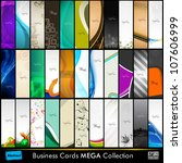 mega collection of 33 abstract... | Shutterstock .eps vector #107606999