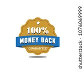 guarantee badge seal stamp... | Shutterstock .eps vector #1076069999
