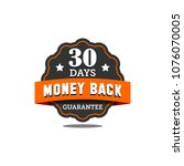 guarantee badge seal stamp... | Shutterstock .eps vector #1076070005