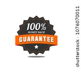 guarantee badge seal stamp... | Shutterstock .eps vector #1076070011