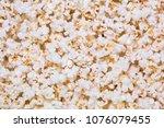 popcorn background texture | Shutterstock . vector #1076079455