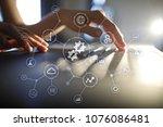 integration concept. industrial ... | Shutterstock . vector #1076086481
