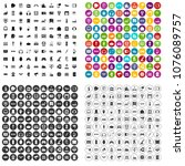 100 device icons set vector in... | Shutterstock .eps vector #1076089757