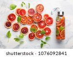 detox infused water flavored... | Shutterstock . vector #1076092841