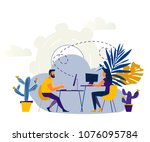 vector illustration internet... | Shutterstock .eps vector #1076095784