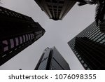 low angled and structured view... | Shutterstock . vector #1076098355