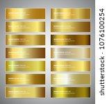 set of gold gradient vector... | Shutterstock .eps vector #1076100254