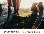 traveler man traveling in...   Shutterstock . vector #1076111111