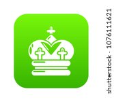 crown icon green vector... | Shutterstock .eps vector #1076111621