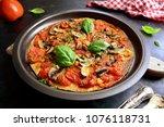 vegan tortilla pizza | Shutterstock . vector #1076118731