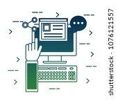 social media card | Shutterstock .eps vector #1076121557