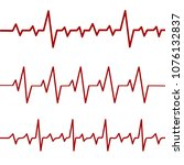 red heartbeat line  ekg  cardio ... | Shutterstock .eps vector #1076132837