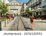 lisbon  portugal   august 13 ... | Shutterstock . vector #1076133551