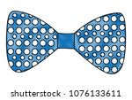 bow tie with points isolated...