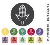 corn outline icons collection.... | Shutterstock .eps vector #1076133761