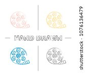 filmstrip roll hand drawn icons ... | Shutterstock .eps vector #1076136479