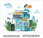news update online illustration ... | Shutterstock .eps vector #1076148344