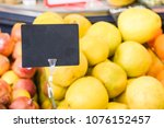 fruit counter and empty price... | Shutterstock . vector #1076152457
