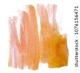 orange paint watercolor. spot... | Shutterstock . vector #1076156471