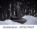 gray weaving high heel woman... | Shutterstock . vector #1076173625