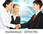 photo of two business partners... | Shutterstock . vector #10761781