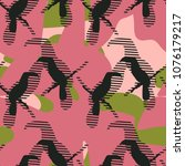 seamless pattern with... | Shutterstock .eps vector #1076179217
