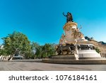 place de la republique.built in ... | Shutterstock . vector #1076184161