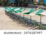 beach chair at nangyuan island  ... | Shutterstock . vector #1076187497