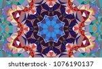 geometric design  mosaic of a...   Shutterstock .eps vector #1076190137