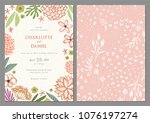 invitation and universal card... | Shutterstock .eps vector #1076197274
