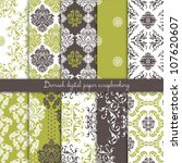 damask scrapbook paper | Shutterstock .eps vector #107620607