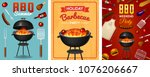 barbecue grill elements set... | Shutterstock .eps vector #1076206667