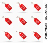 sale tags with discounts... | Shutterstock .eps vector #1076208539