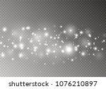 white sparks glitter special...   Shutterstock .eps vector #1076210897